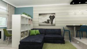 dizajn-interera-malenkoj-kvartiry-studii4  - фото