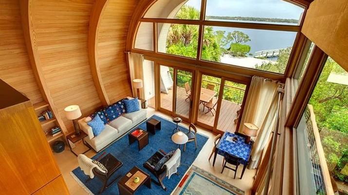 Эксклюзивные и необычные дома из клееного бруса