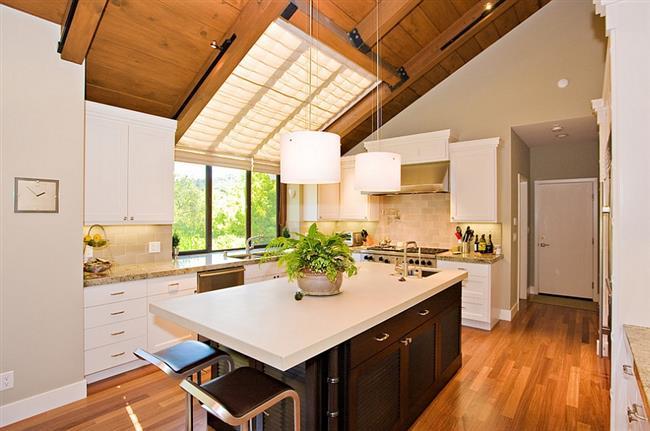 Мансардные окна на кухне: 25 дизайнерских идей