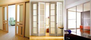 Раздвижные дверные конструкции: варианты и установка