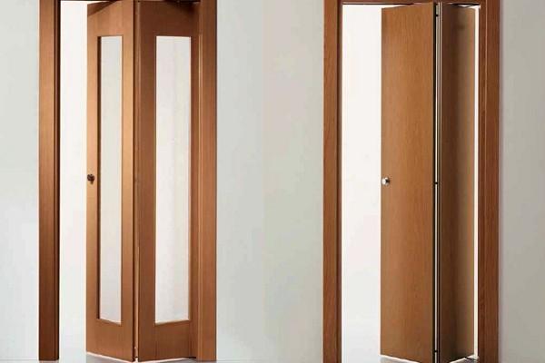 Установка складной межкомнатной двери