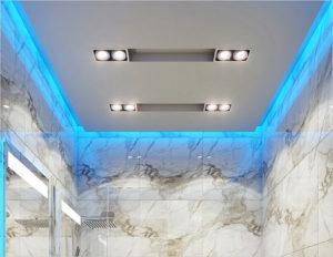 Варианты подсветки потолка в ванной комнате