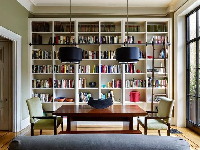 Как сделать в столовой библиотеку: 25 оригинальных идей для настоящих книголюбов!
