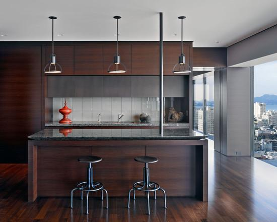 Кухня цвета венге