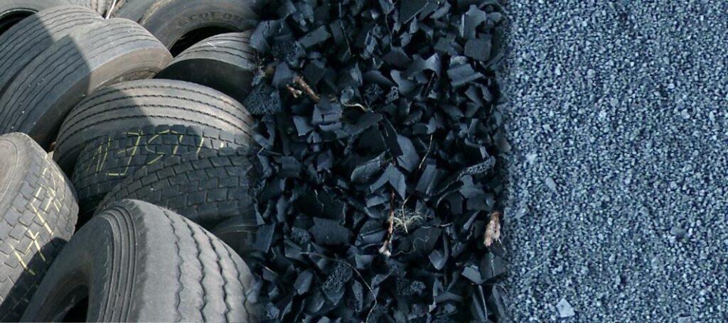 Применение резиновой крошки от шин