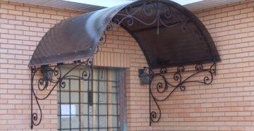 Козырьки над крыльцом из монолитного поликарбоната